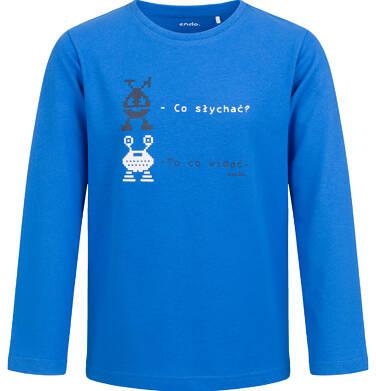T-shirt z długim rękawem dla chłopca, niebieski, 2-8 lat C04G062_1