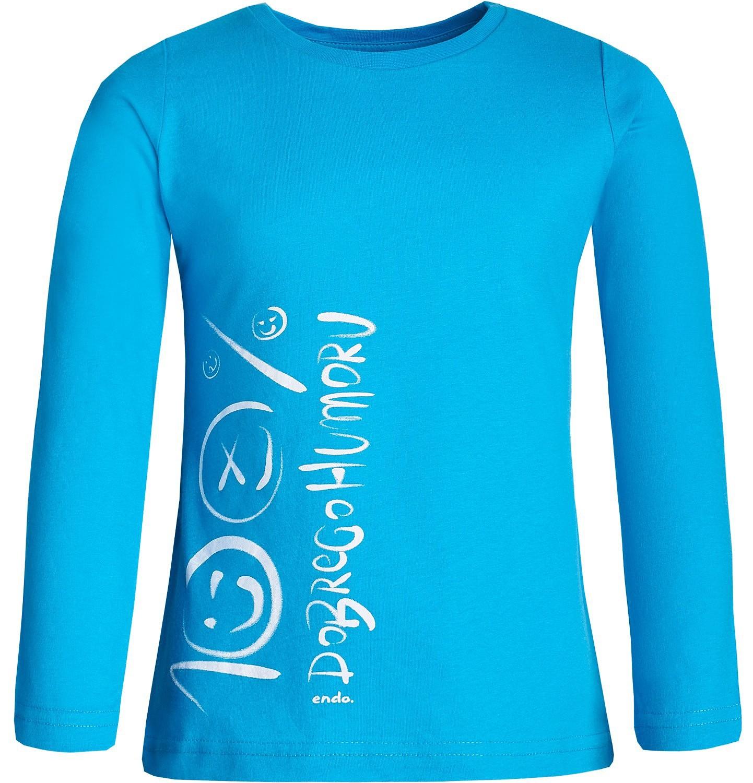 Endo - Bluzka z długim rękawem dla dziewczynki 3-8 lat D82G110_1