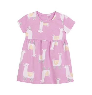 Endo - Sukienka dla dziewczynki do 2 lat, różowa N03H019_1