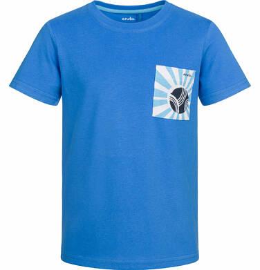 Endo - T-shirt z krótkim rękawem dla chłopca, z kieszonką, niebieski, 9-13 lat C03G563_1