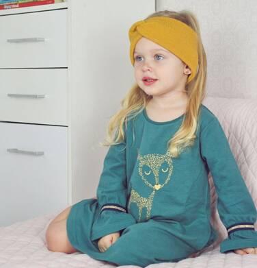 Endo - Sukienka z długim rekawem, luźny krój, zielona, 2-8 lat D04H028_1 77