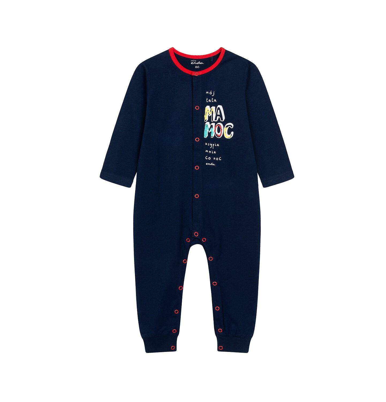 Endo - Pajac dla dziecka do 2 lat, z napisem, granatowy N05N025_1