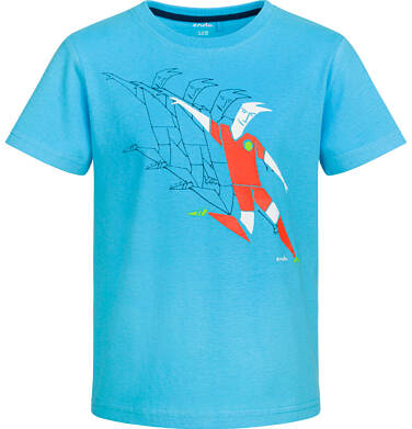 Endo - T-shirt z krótkim rękawem dla chłopca, sportowy motyw, niebieski, 2-8 lat C03G064_1