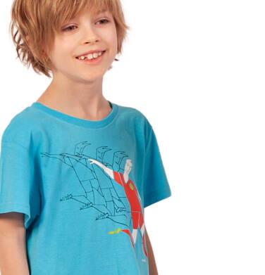Endo - T-shirt z krótkim rękawem dla chłopca, sportowy motyw, niebieski, 2-8 lat C03G064_1 27