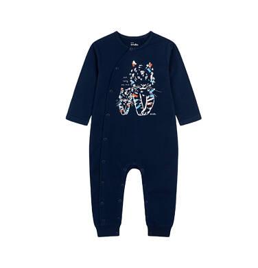 Endo - Pajac dla dziecka do 2 lat, z małym i dużym tygrysem, granatowy N05N039_1 8