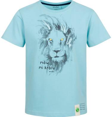 Endo - T-shirt z krótkim rękawem dla chłopca, z lwem, niebieski, 9-13 lat C03G617_1