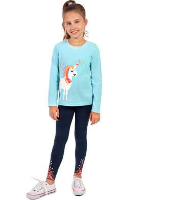 Endo - Legginsy dla dziewczynki, granatowe, 9-13 lat D04K080_1,2