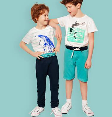 Endo - Spodnie dresowe dla chłopca, granatowe, 2-8 lat C05K026_3,2