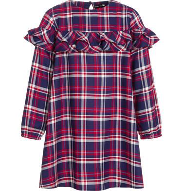 Sukienka z długim rękawem dla dziewczynki 9-13 lat D92H511_1