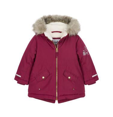 Endo - Zimowa kurtka parka dla małego dziecka, Zima się mnie nie ima, bordowa N92A017_1