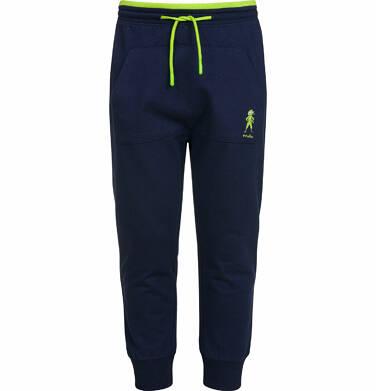 Endo - Spodnie dresowe dla chłopca, z ninją na kieszeni, ciemnogranatowe, 2-8 lat C03K012_1