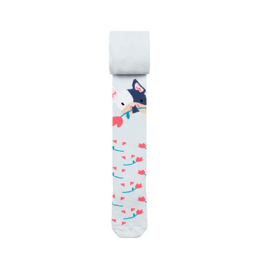 Endo - Rajstopy dziecięce dla dziewczynki, niebieskie, Piesek D08P020_1 197