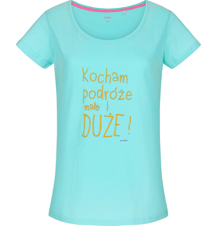 Endo - T-shirt damski z krótkim rękawem Y91G029_1