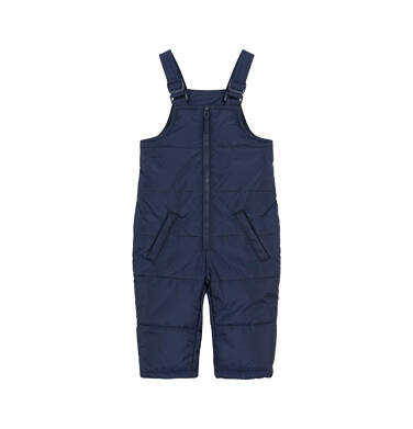 Endo - Spodnie ocieplane na szelkach dla małego dziecka, granatowe N92A028_1