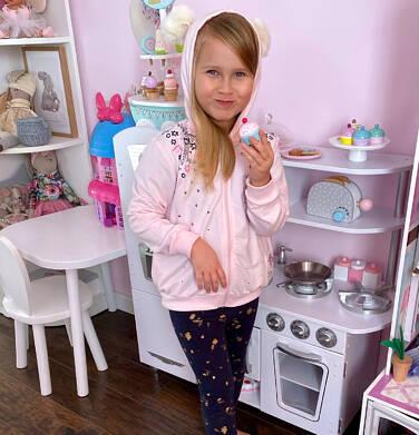 Endo - Legginsy dla dziewczynki, granatowo - złote, 2-8 lat D04K002_3 167