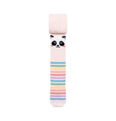 Endo - Rajstopy dziecięce dla dziewczynki, różowe, Panda D08P021_1 215