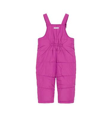 Endo - Spodnie ocieplane na szelkach dla małego dziecka, ciemnoróżowe N92A028_2 7