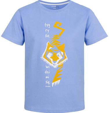 Endo - T-shirt z krótkim rękawem dla chłopca, z tygrysem, niebieski, 9-13 lat C03G721_1