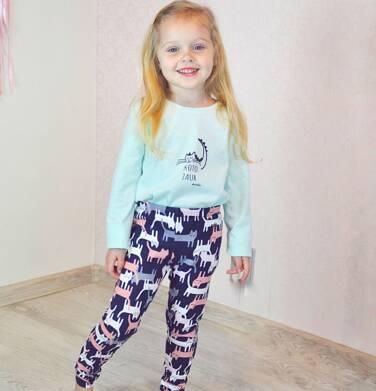 Endo - Legginsy dla dziewczynki, deseń w koty, 2-8 lat D04K002_4 8
