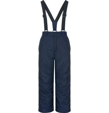 Spodnie ocieplane na szelkach dla chłopca 3-8 lat, granatowe C92A010_1
