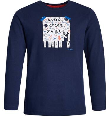 """Endo - """"Wymarzone"""" T-shirt z długim rękawem dla chłopca 3-8 lat C82G004_1"""