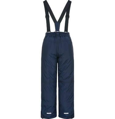 Endo - Spodnie ocieplane na szelkach dla chłopca 9-13 lat, granatowe C92A510_1