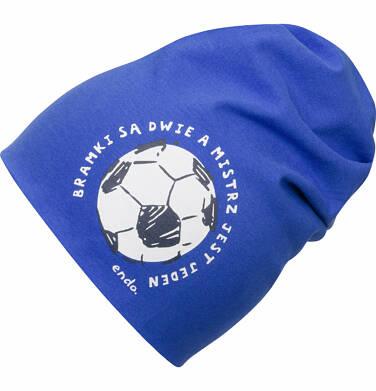 Endo - Czapka wiosenna dla chłopca, z piłką, niebieska C03R004_1
