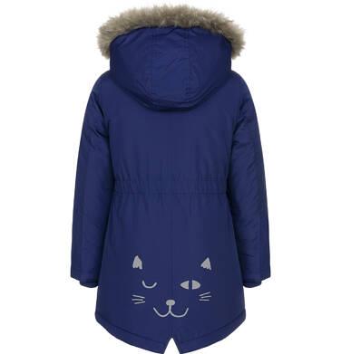 Endo - Zimowa kurtka parka dla dziewczynki 3-8 lat, ciemnogranatowa, z kocim odblaskiem, ciepła D92A008_1,5