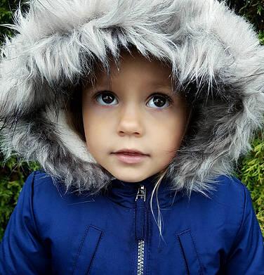 Endo - Zimowa kurtka parka dla dziewczynki 3-8 lat, ciemnogranatowa, z kocim odblaskiem, ciepła D92A008_1,10