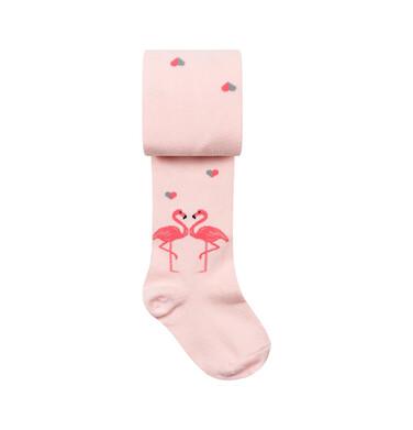 Endo - Rajstopy dziecięce dla dziewczynki, różowe, Flamingi D08P025_1 244