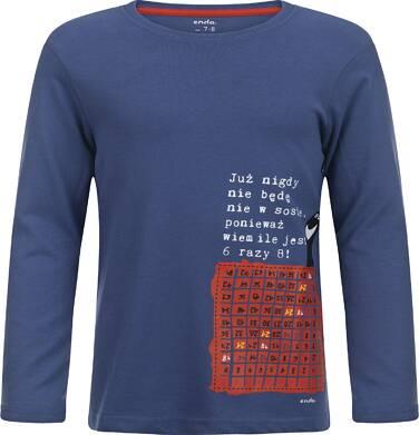 """Endo - """"Już nigdy nie będę nie w sosie, ponieważ wiem ile jest 6 razy 8!"""" T-shirt z długim rękawem dla chłopca 3-8 lat C82G006_1"""
