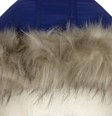 Endo - Zimowa kurtka parka dla dziewczynki 9-13 lat, ciemnogranatowa, z kocim odblaskiem, ciepła D92A508_1,8