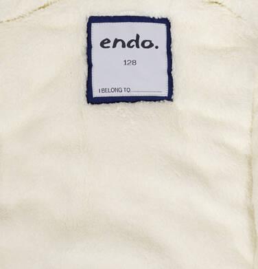 Endo - Zimowa kurtka parka dla dziewczynki 9-13 lat, ciemnogranatowa, z kocim odblaskiem, ciepła D92A508_1,6