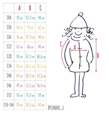 Endo - Zimowa kurtka parka dla dziewczynki 9-13 lat, ciemnogranatowa, z kocim odblaskiem, ciepła D92A508_1,3
