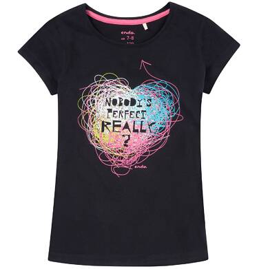 Endo - Bluzka z krótkim rękawem dla dziewczynki 3-8 lat D81G160_1