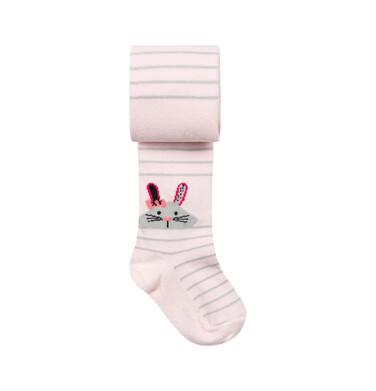 Endo - Rajstopy dziecięce dla dziewczynki, różowe, Króliczek D08P028_1 223