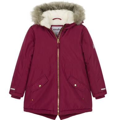 Endo - Zimowa kurtka parka dla dziewczynki 3-8 lat, Zima się mnie nie ima, bordowa D92A010_1