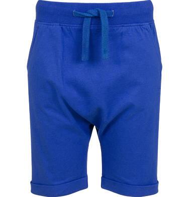Szorty dla chłopca, niebieskie, z obniżonym krokiem, 2-8 lat C03K019_3