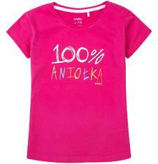 Bluzka z krótkim rękawem dla dziewczynki 9-13 lat D71G673_1