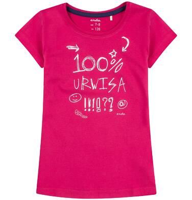 Endo - Bluzka z krótkim rękawem dla dziewczynki 3-8 lat D81G163_1