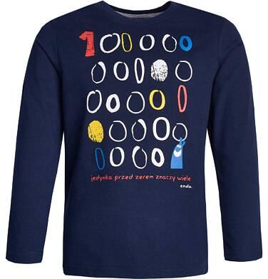 """Endo - """"Jedyna przed zerem znaczy wiele"""" T-shirt z długim rękawem dla chłopca 3-8 lat C82G012_1"""