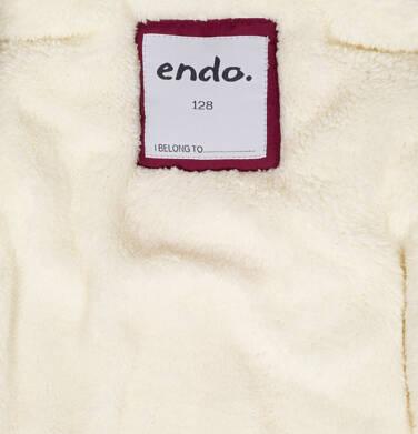 Endo - Zimowa kurtka parka dla dziewczynki 9-13 lat, Zima się mnie nie ima, bordowa D92A510_1