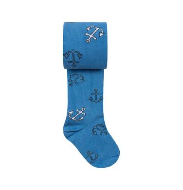 Endo - Rajstopy dziecięce dla chłopca, błękitne w kotwice C08P015_1 35