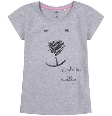 Endo - Bluzka z krótkim rękawem dla dziewczynki 3-8 lat D81G164_1