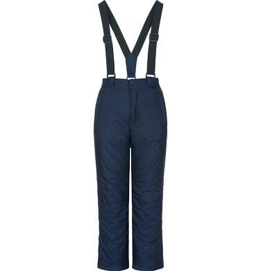 Endo - Spodnie ocieplane na szelkach dla dziewczynki 3-8 lat, granatowe D92A017_1