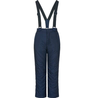 Endo - Spodnie ocieplane na szelkach dla dziewczynki 9-13 lat, granatowe D92A517_1