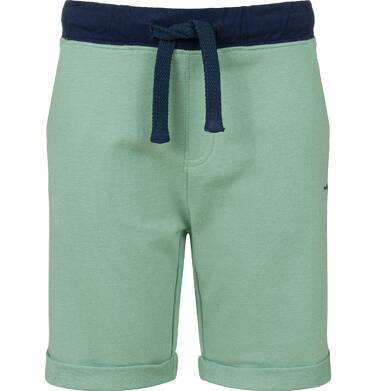 Endo - Krótkie spodenki dresowe dla chłopca, zielone, 9-13 lat C03K521_2