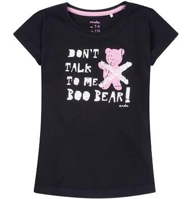 Endo - Bluzka z krótkim rękawem dla dziewczynki 3-8 lat D81G166_1