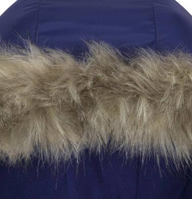 Endo - Zimowa kurtka dla dziewczynki 3-8 lat, indygo, polarowa podszewka, odblaskowy nadruk D92A018_1