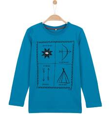 Endo - T-shirt z długim rękawem dla chłopca 3-8 lat C62G065_1